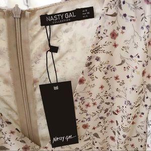 Nasty Gal Dresses - Nasty Gal Floral Flutter Maxi Dress in Beige - 4